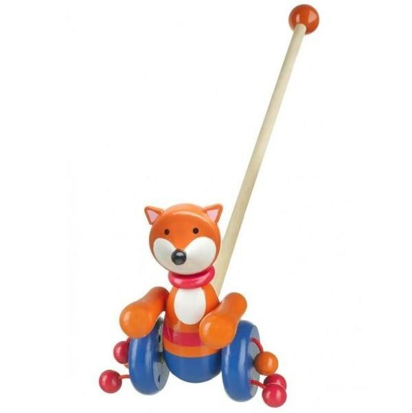 New Design Push-Along Woodland Animal Fox by Orange Tree Toys
