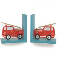 Vehicle Fire Engine Wooden Decorative Bookends