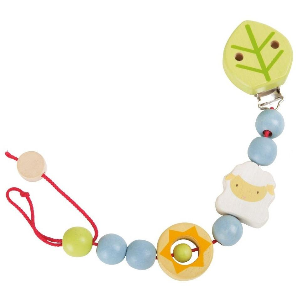 Baby Lamb Wooden Pacifier-Dummy Chain