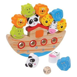 Wooden Balancing Noah's Ark Dexterity Game