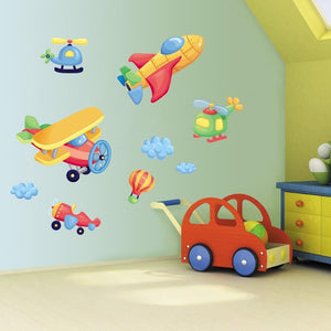 Boys Bedroom Aeroplane Wall Art Stickers
