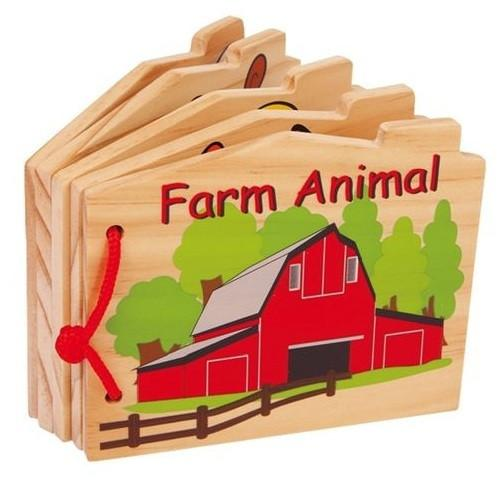 Wooden Farm Animals Baby Book