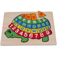ABC Turtle Alphabet & Numbers 1-9 Board Jigsaw Puzzle