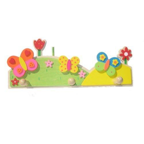 Childrens Wooden Flower Coat Pegs Rack by AM Leg