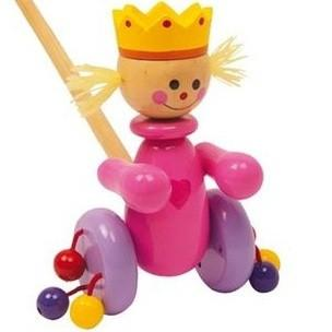 Wooden Push-Along Princess