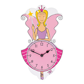 Fair Trade Pink Fairy Katie Clock by Lanka Kade