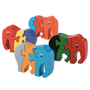 Fair Trade Baby Elephant Jigsaw by Lanka Kade