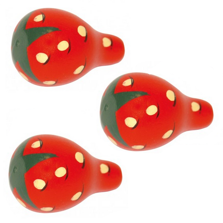 Wooden Play Food - 3 Strawberries