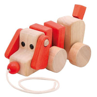Large Wooden String Pull-Along Dog
