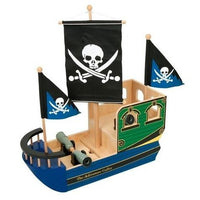 Wooden Toy 'Skull' Pirate Ship