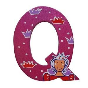 Pink Wooden Fairytale Letter - Q