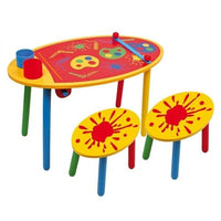 Childrens Wooden 'Art' Table & Chairs Furniture Set