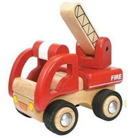 Eco Friendly Wooden Mini Red Fire Engine Truck by Wonderworld