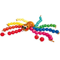 Wooden Threading Spider with Beads