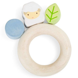 Wooden Baby Grasping Lamb Toy