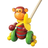 New Design Push-Along Monkey by Orange Tree Toys
