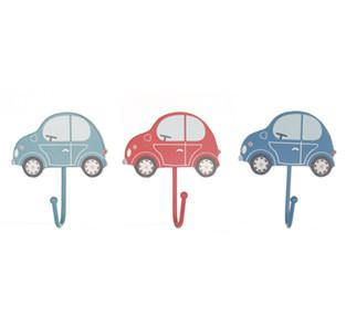 Set of 3 Assorted Transport Car Coat Hooks
