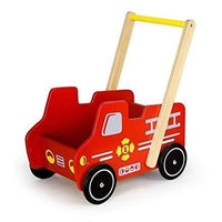 Wooden Fire Engine Walker by Viga
