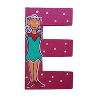 Pink Wooden Fairytale Letter - E