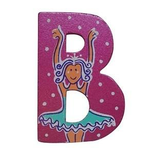 Pink Wooden Fairytale Letter - B