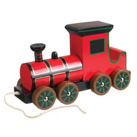 Pull-Along Wooden Vintage Steam Train Toy