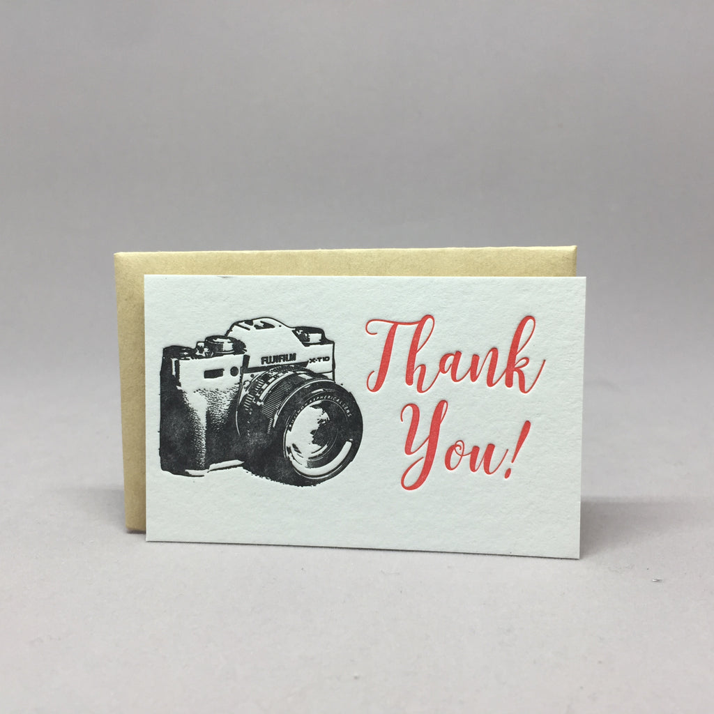 Thank You Camera Mini Gift Card Holder