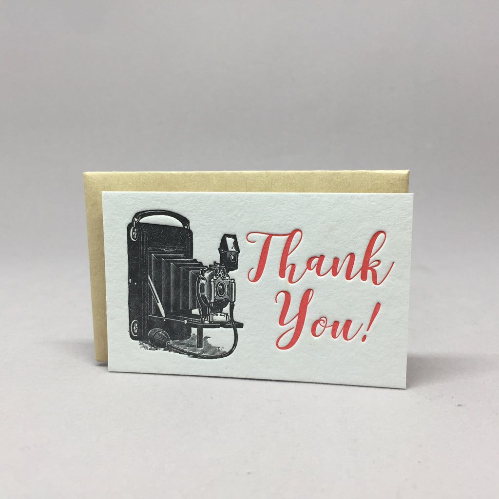 Vintage Camera Thank You Mini