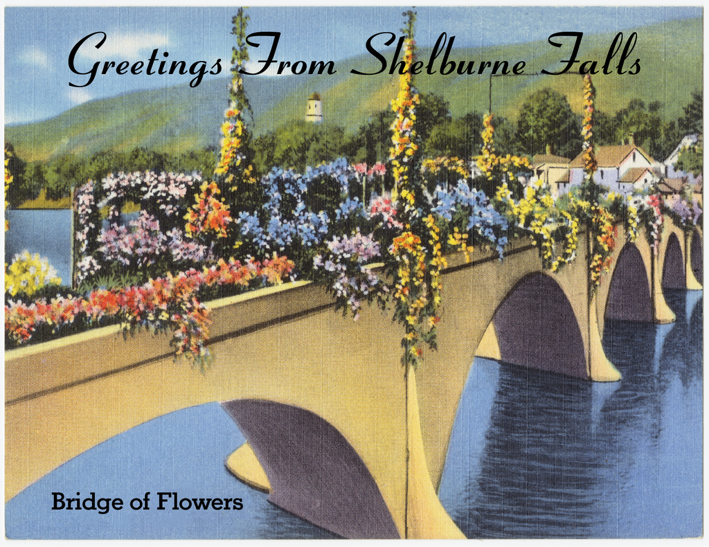 Vintage Shelburne Falls Bridge