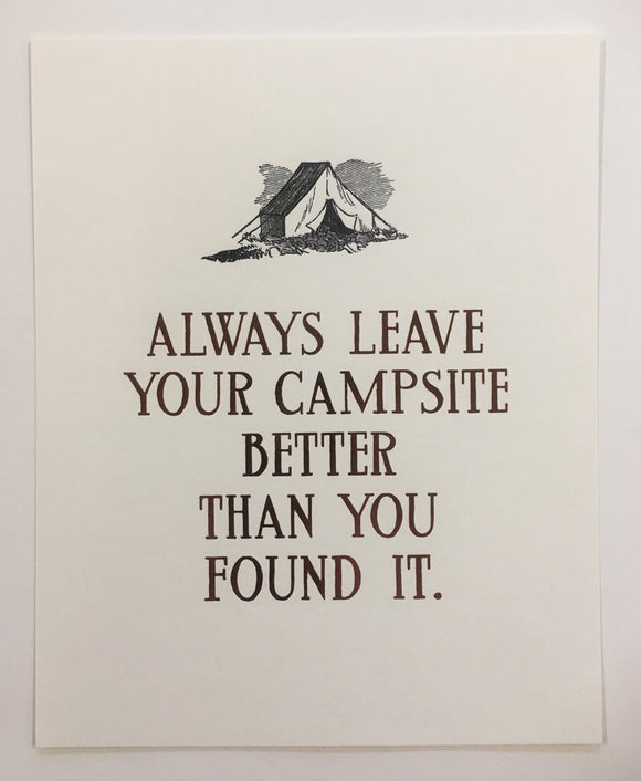 Campsite Broadside