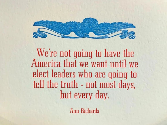 Ann Richards America Quote