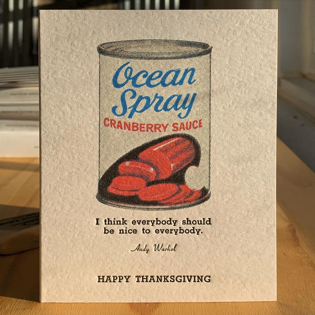 Andy Warhol Cranberry Sauce Thanksgiving