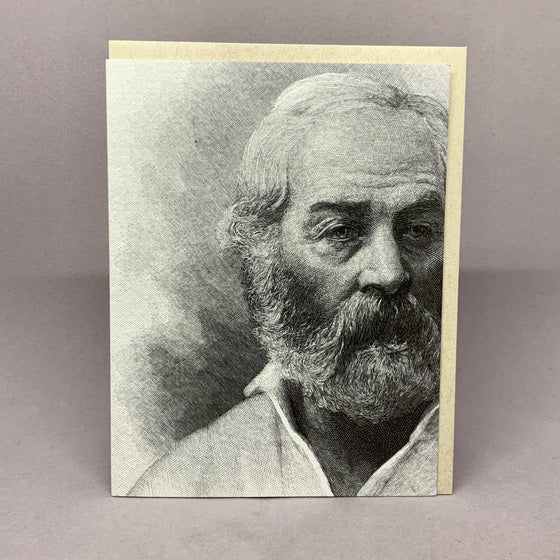 Walt Whitman--Blank note card