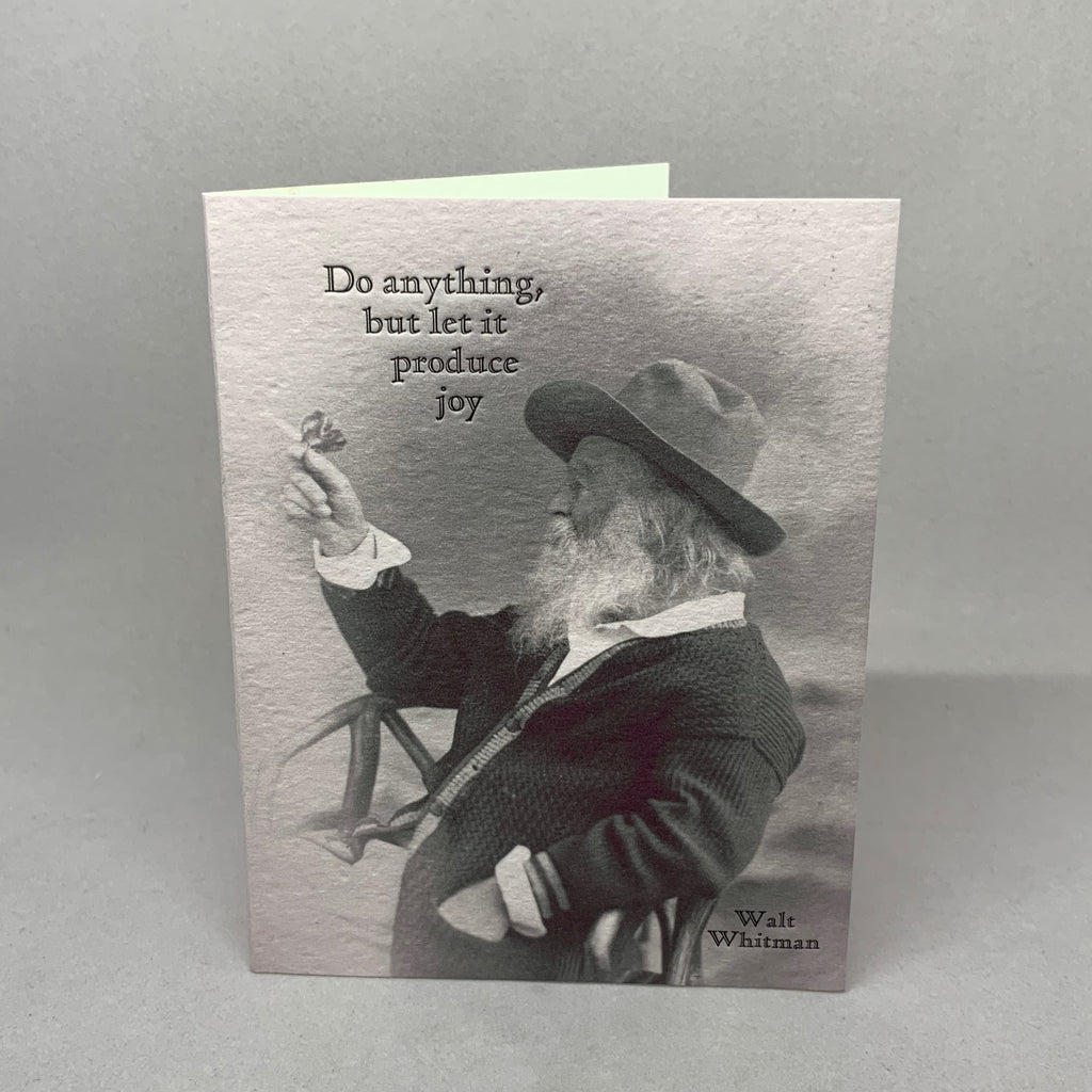 Walt Whitman Produce Joy Butterfly Card