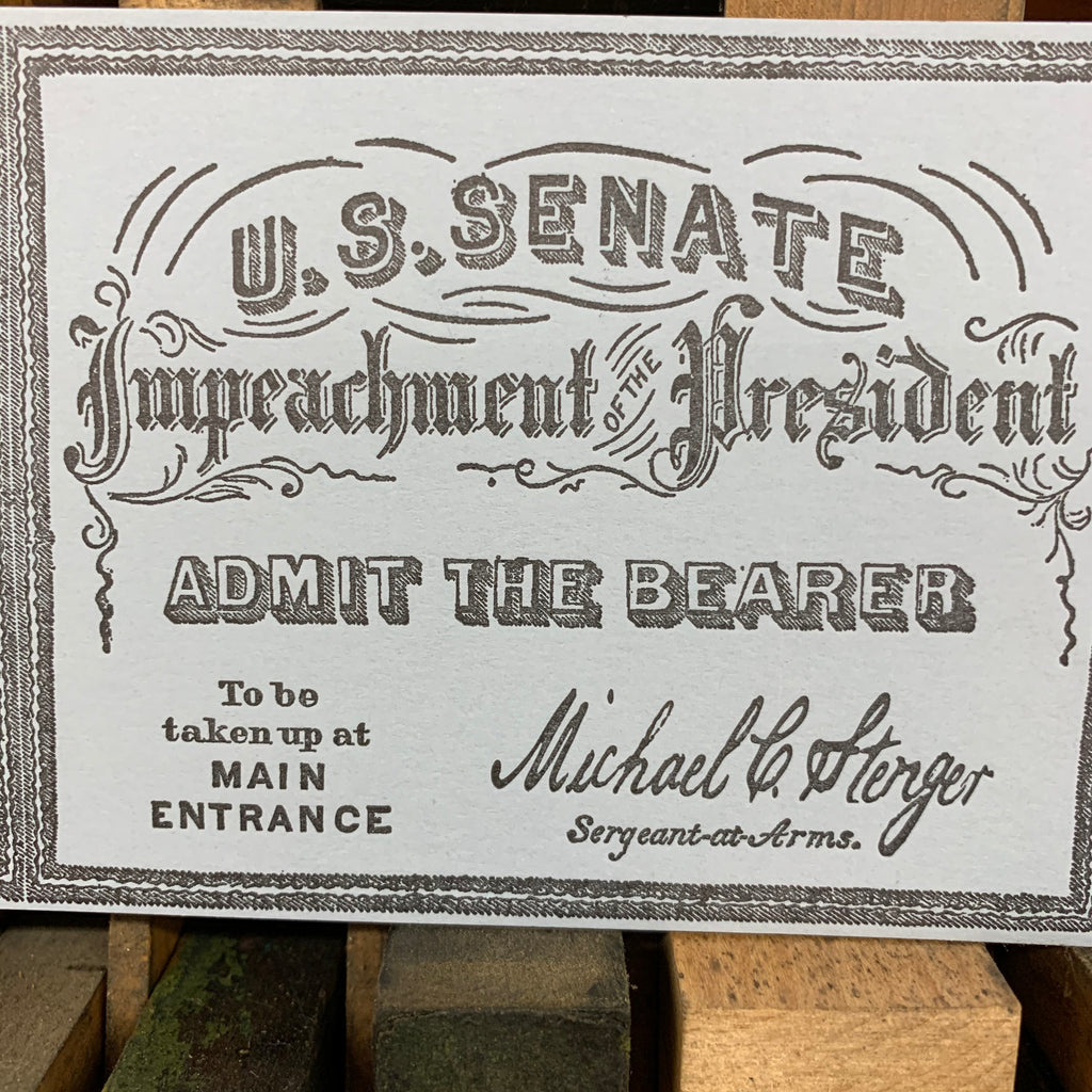 Tickets to the Impeachment Party Pack