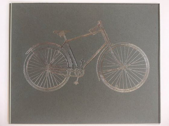 Bike Letterpress Broadside