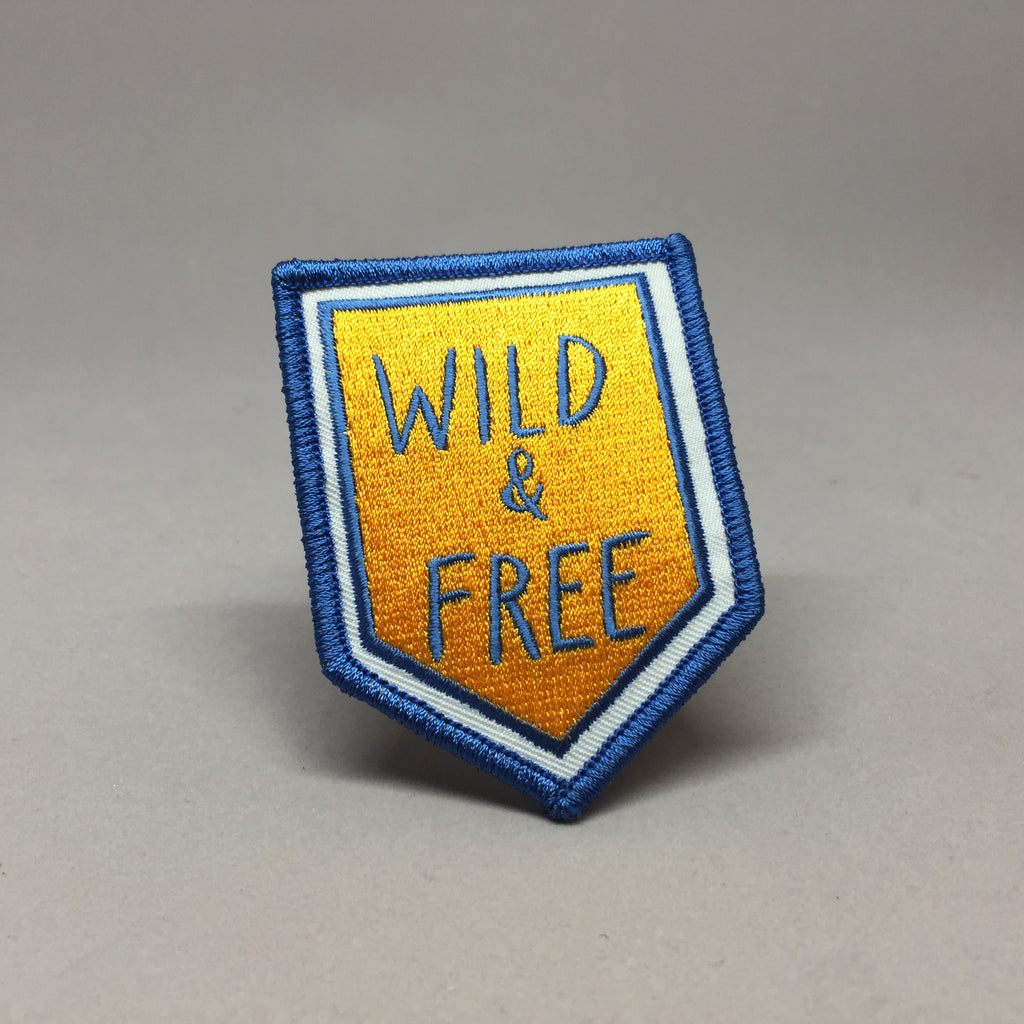 Wild & Free Camp Patch and Card