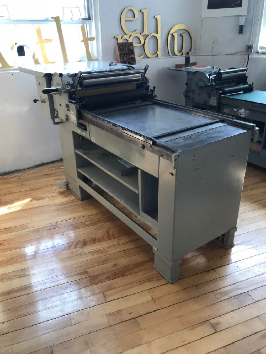 Vandercook SP-25 Cylinder Proof Press and Training