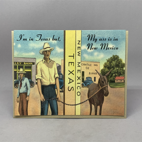 Vintage New Mexico My Ass Card
