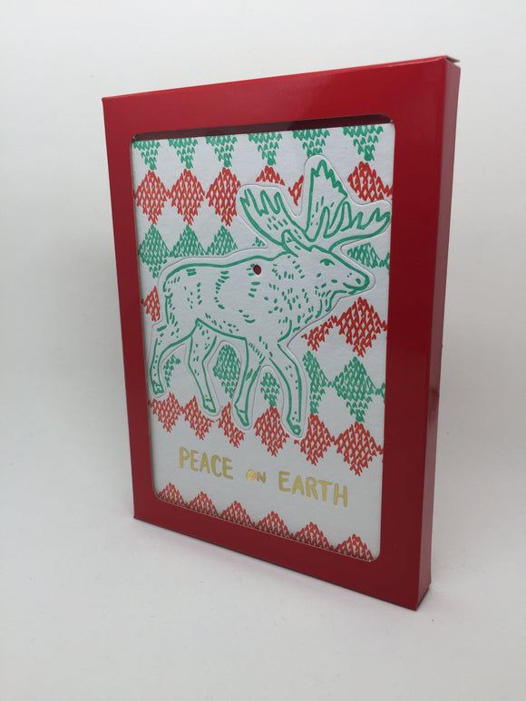 Letterpress Holiday Ornament set by Molly Hatch