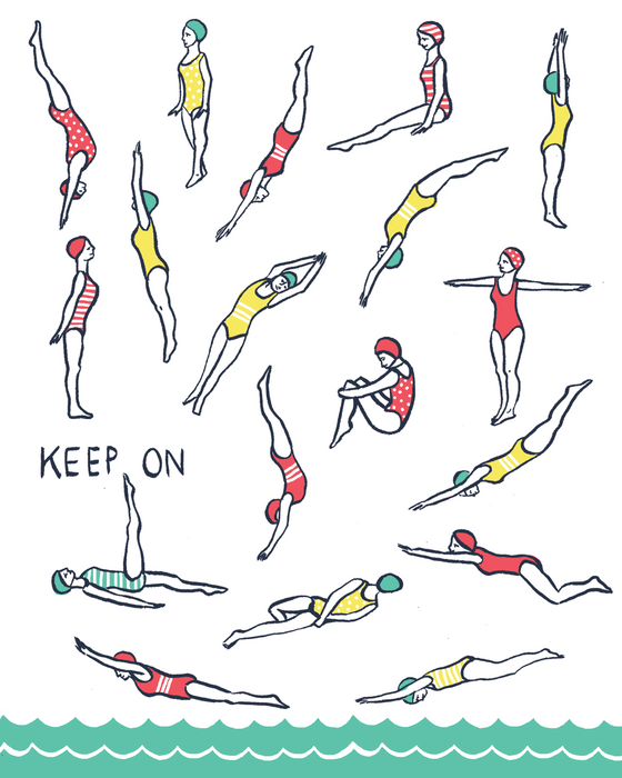 Keep On Swim Poster
