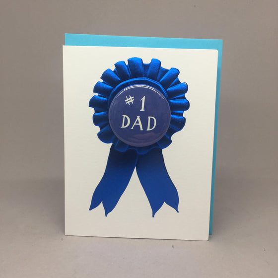 #1 Dad Pin Card