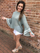 Ruffle Bell Sleeve Sweater