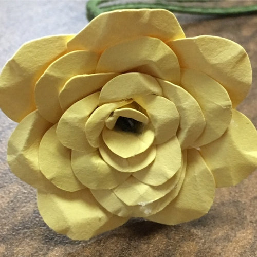 Solid color paper flowers flowers i yellow paper flower rose mightylinksfo