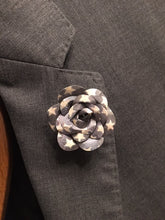 Vintage Star Flower Rose Lapel Pin