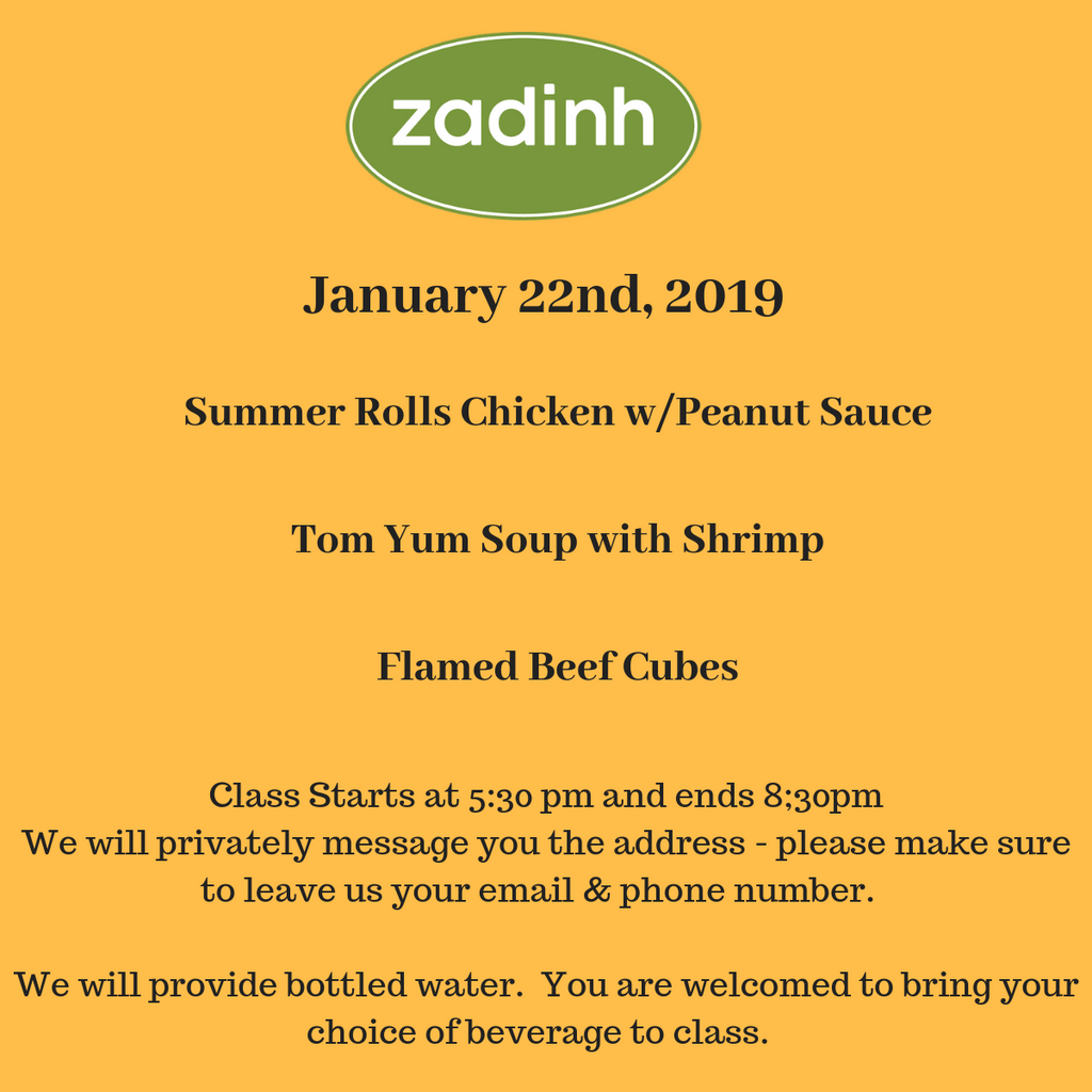 2019 Asian Cooking Classes with Yume