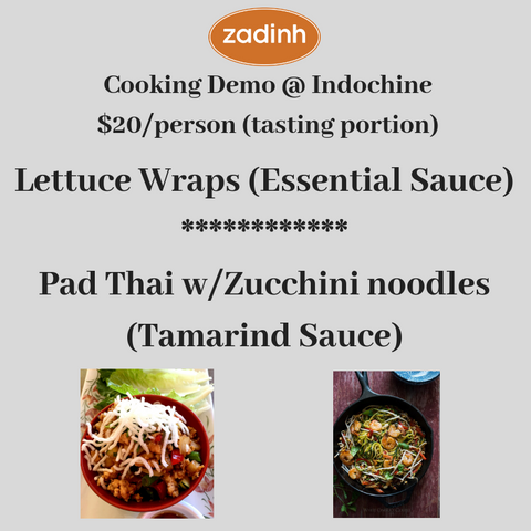 2019 - Cooking Demo at Indochine