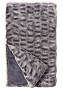 Glacier Faux Mink Couture Throw