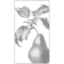 Engraved Pear Guest Paper Napkins