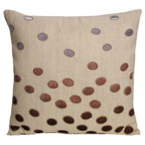 Ovals Cotton Linen Bolster Iris Pillow