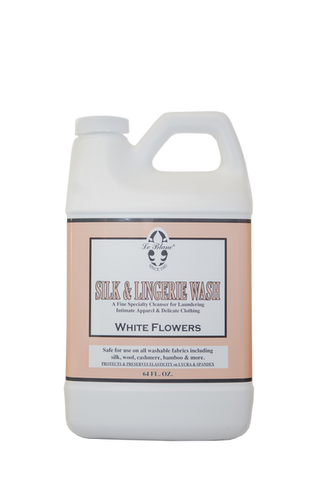 Silk & Lingerie Wash White Flowers